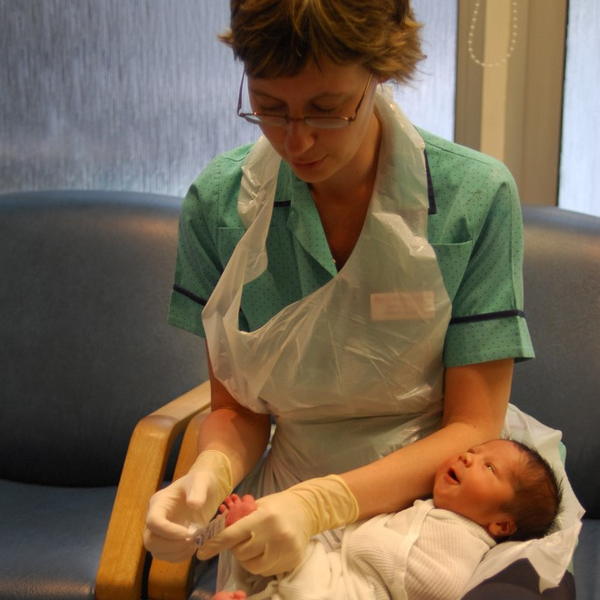 Nurse with baby (By Salim Fadhley from London, UK (Sarah the Nursey Nurse) [CC BY-SA 2.0 (http://creativecommons.org/licenses/by-sa/2.0)], via Wikimedia Commons)